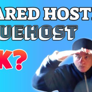 Is shared hosting recommended for BlueHost Host?